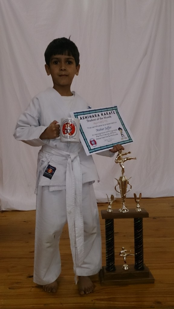 Mahier Jaffer - Ashihara Karate Student of the Month