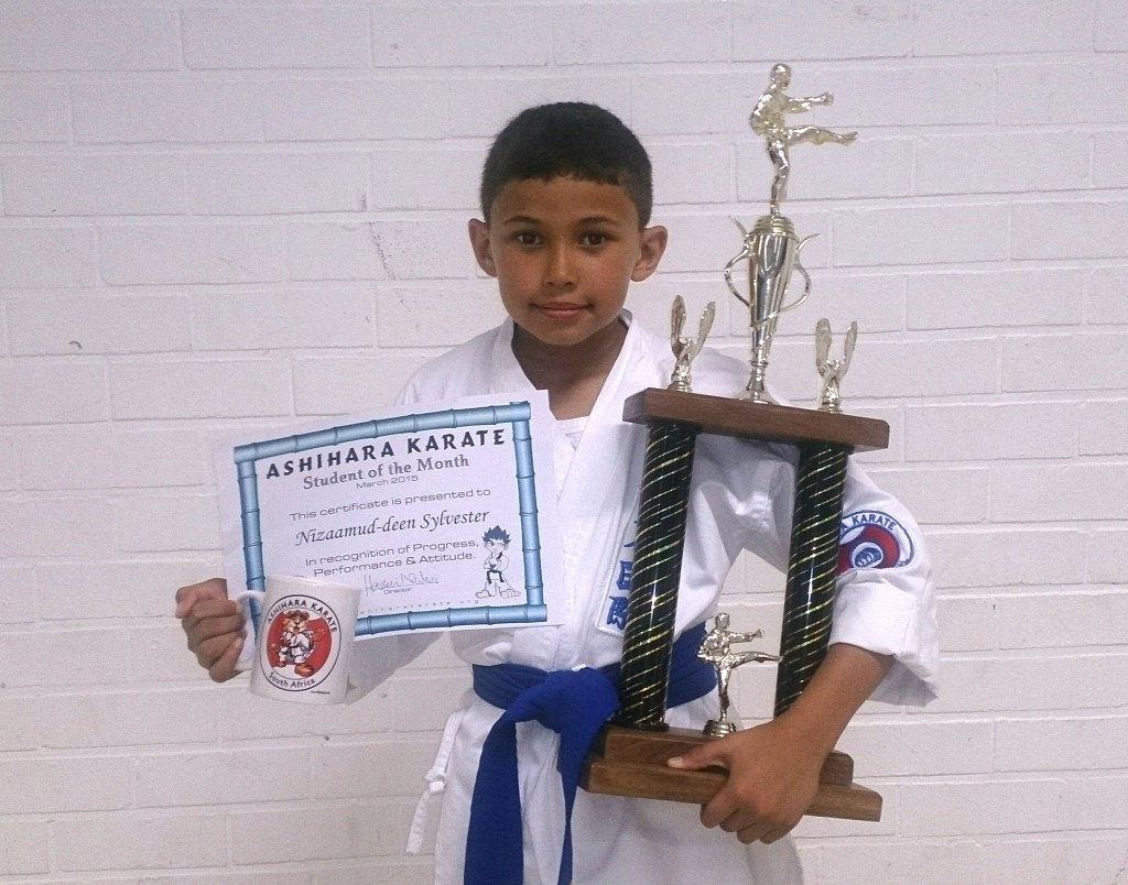 Nizaamud-deen Sylvester - Ashihara Karate student of the Month