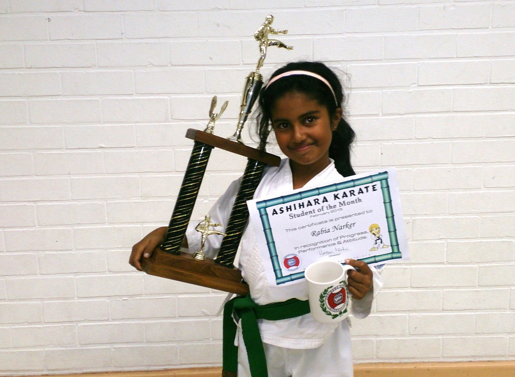 Rabia Narker - Ashihara Karate student of the Month